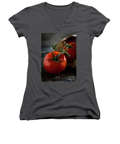 Plump Red Tomatoes Women's V-Neck T-Shirt