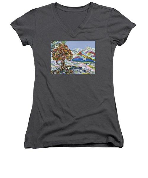 Poet's Lake Women's V-Neck T-Shirt