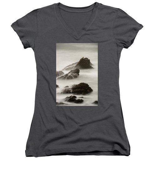 Women's V-Neck T-Shirt (Junior Cut) featuring the photograph Point Arena  by Dustin LeFevre