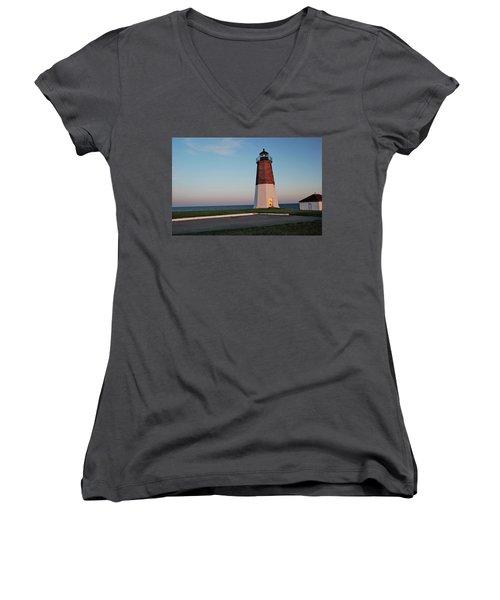 Point Judith Lighthouse Rhode Island Women's V-Neck