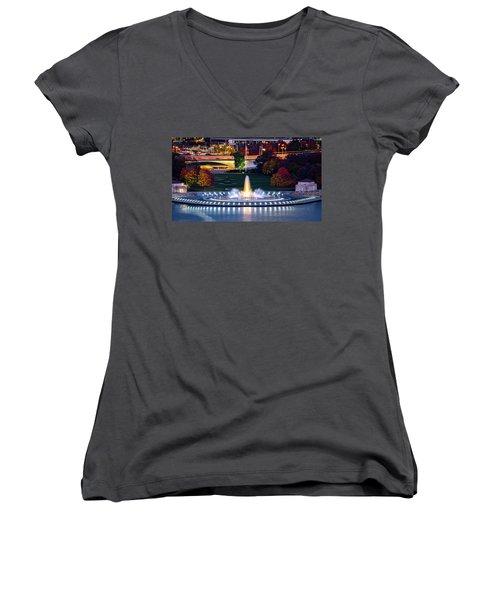 Point State Park  Women's V-Neck T-Shirt
