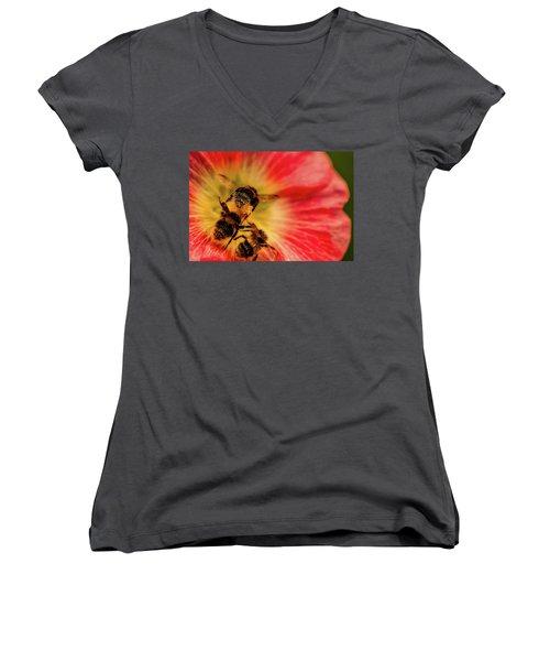 Pollination Women's V-Neck T-Shirt (Junior Cut) by Verena - Timschenko