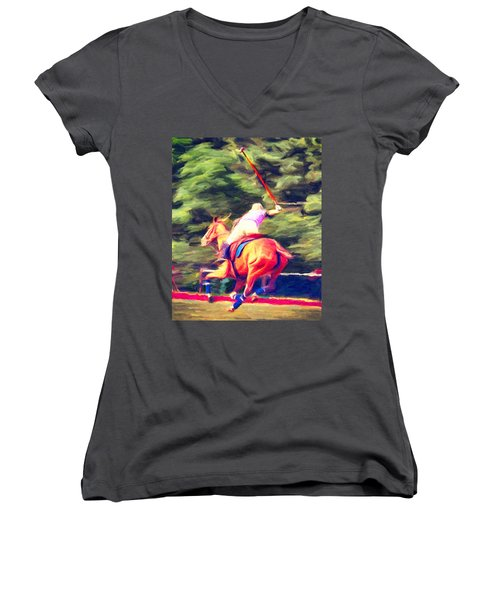 Polo Game 2 Women's V-Neck (Athletic Fit)