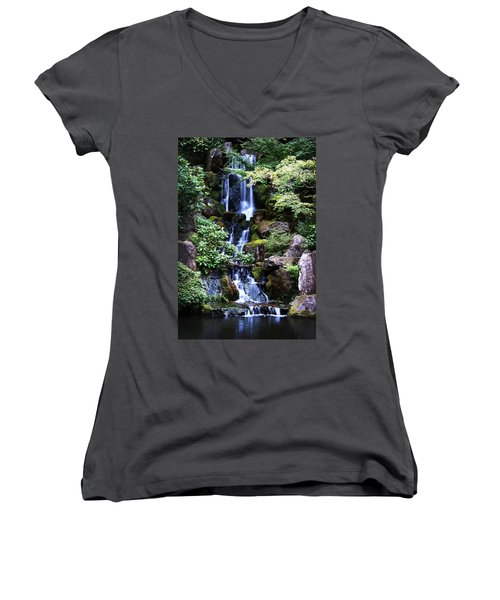 Pond Waterfall Women's V-Neck