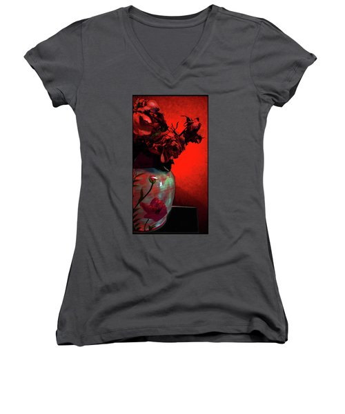 Poppies And Roses Women's V-Neck