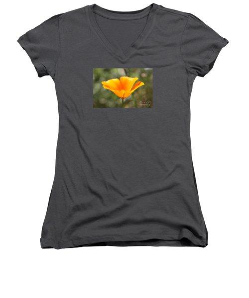 Poppy Flower Women's V-Neck T-Shirt