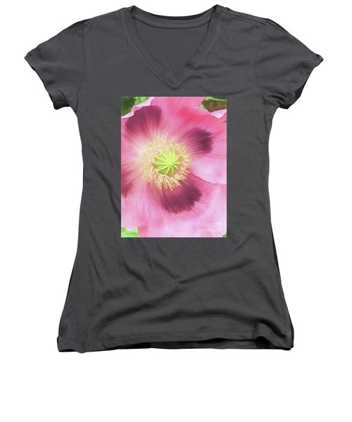 Poppy Perfection Women's V-Neck T-Shirt