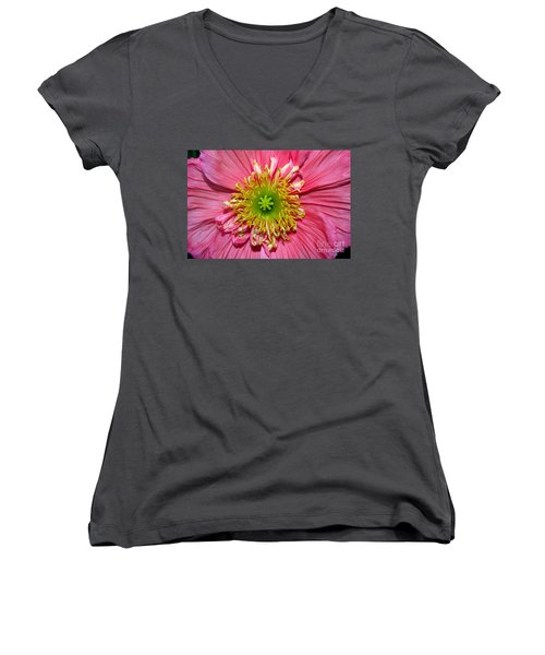 Poppy Women's V-Neck T-Shirt (Junior Cut) by Vivian Krug Cotton