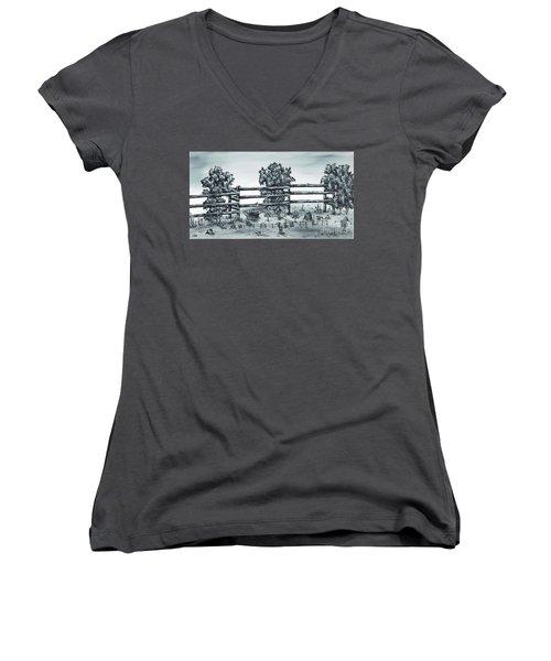 Popular Street Women's V-Neck T-Shirt (Junior Cut) by Kenneth Clarke