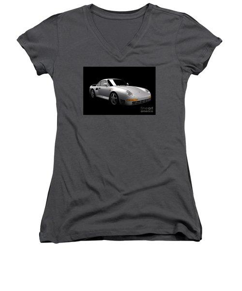 Porsche 959 Women's V-Neck