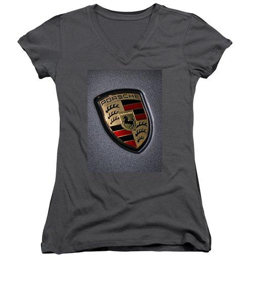 Porsche Women's V-Neck T-Shirt (Junior Cut) by Gordon Dean II