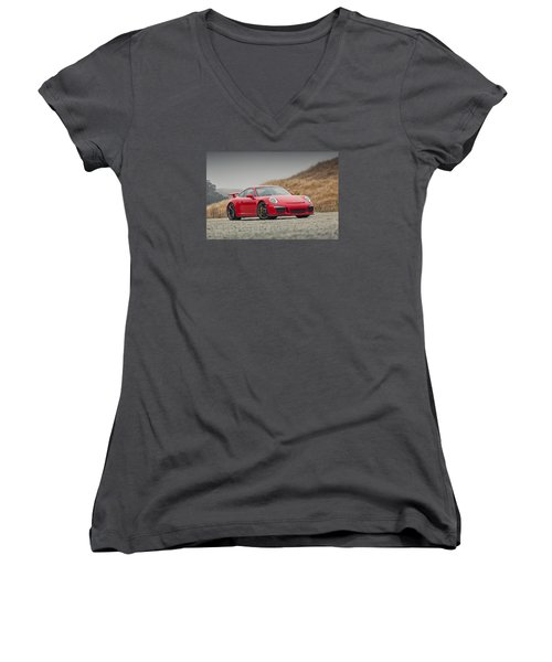 Porsche 991 Gt3 Women's V-Neck T-Shirt