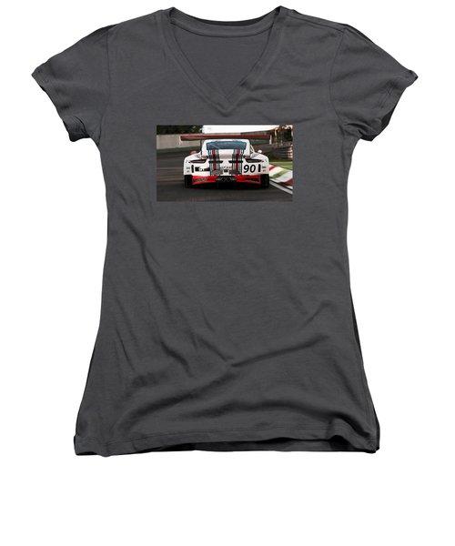 Porsche Gt3, Martini Racing, Monza - 03 Women's V-Neck (Athletic Fit)