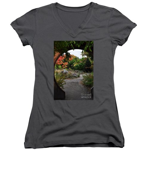 Portal To Paradise Women's V-Neck (Athletic Fit)