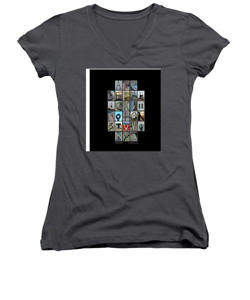 Portland Alphabet Women's V-Neck T-Shirt