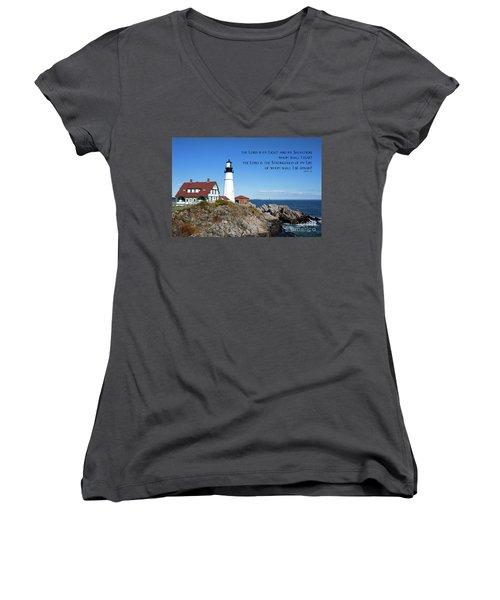 Portland Head Lighthouse Women's V-Neck