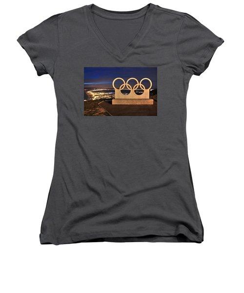 Portland Olympic Rings Women's V-Neck