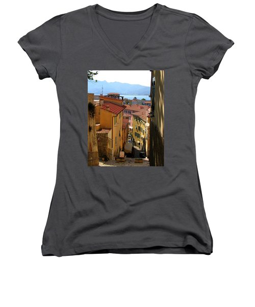 Portoferraio Elba Women's V-Neck T-Shirt