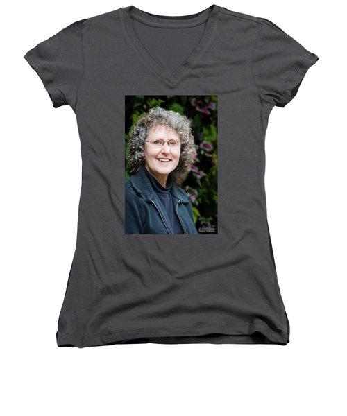 Portrait In The Leaves Women's V-Neck T-Shirt