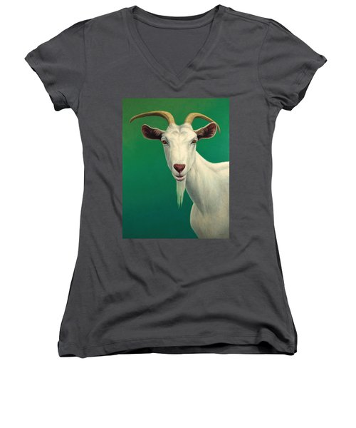 Portrait Of A Goat Women's V-Neck T-Shirt