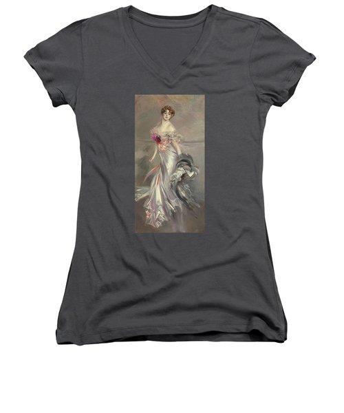 Portrait Of Marthe Regnier Women's V-Neck T-Shirt