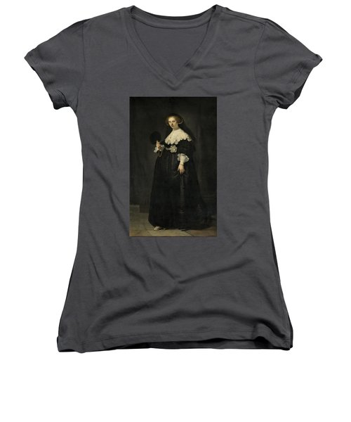 Portrait Of Oopjen Coppit, 1634 Women's V-Neck (Athletic Fit)