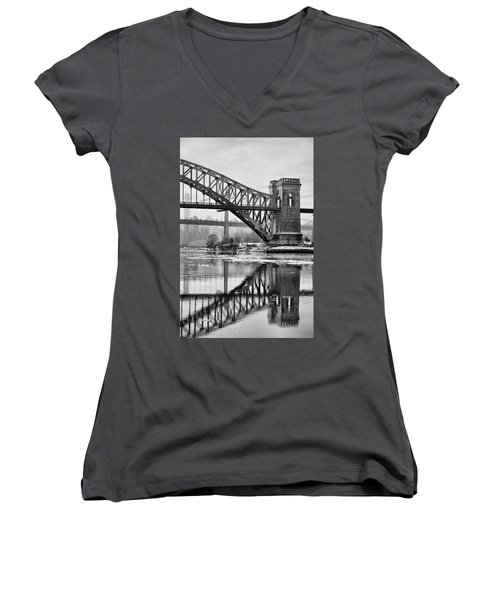 Portrait Of The Hellgate Women's V-Neck (Athletic Fit)