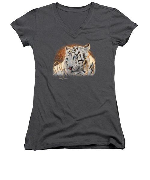 Portrait White Tiger 1 Women's V-Neck