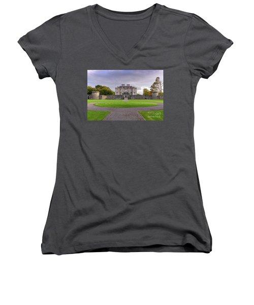 Portumna House  Women's V-Neck T-Shirt (Junior Cut) by Juergen Klust