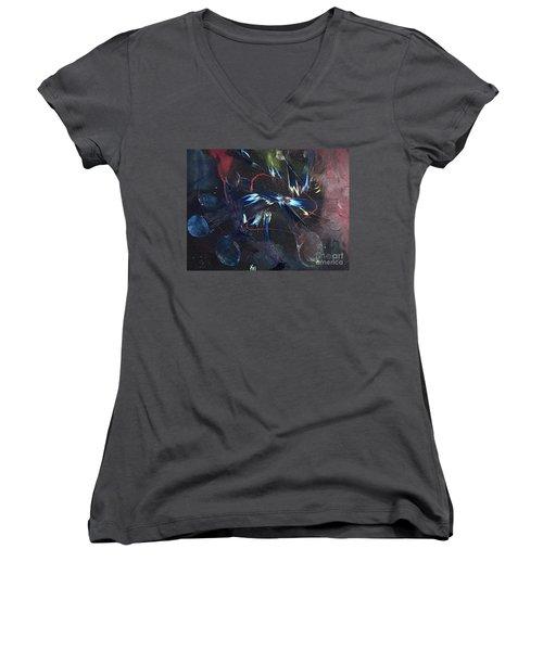 Positive Energy Women's V-Neck T-Shirt (Junior Cut) by Karen Nicholson