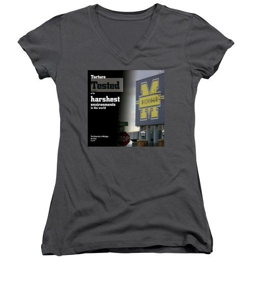 Poster Of The Big House Women's V-Neck