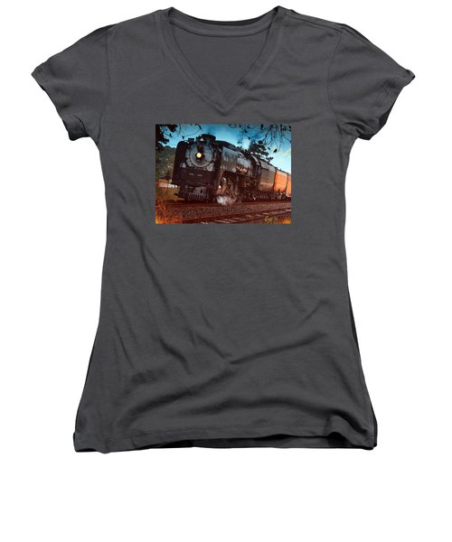 Pounding Up The Texas Grade Women's V-Neck T-Shirt (Junior Cut) by J Griff Griffin