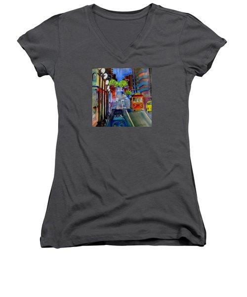 Powell  Street Women's V-Neck T-Shirt