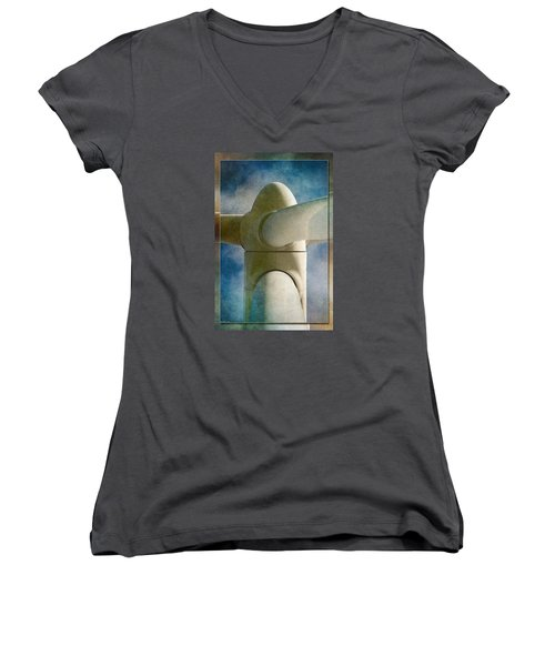 Women's V-Neck T-Shirt (Junior Cut) featuring the photograph Power 7 by WB Johnston