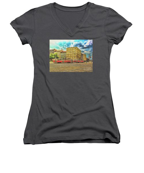 Prague Women's V-Neck