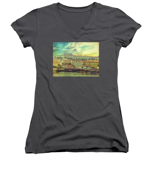 Prague Riverview Women's V-Neck
