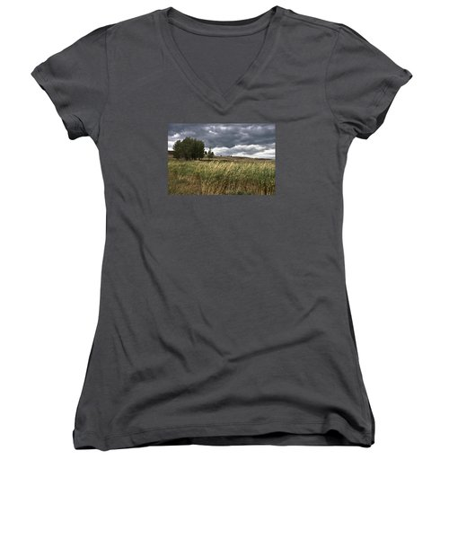 Prairie, Lost Trail Wildlife Refuge Women's V-Neck
