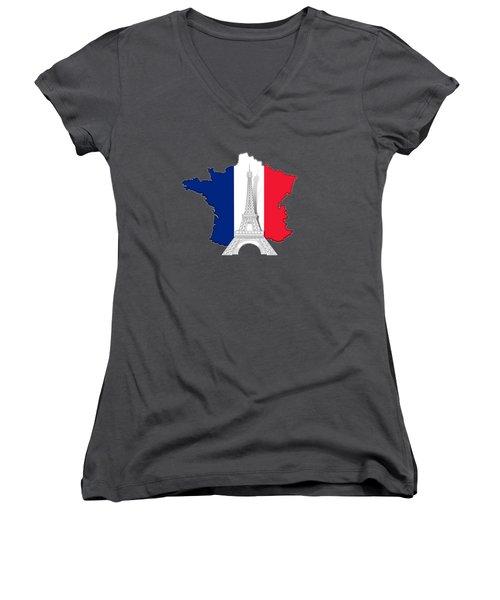 Pray For Paris Women's V-Neck