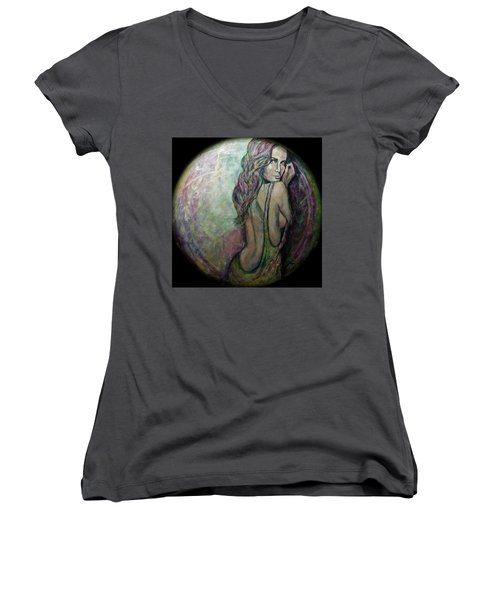 Precious Metals, Jade Women's V-Neck T-Shirt
