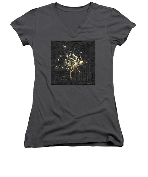 Precious Splashes - Set Of 4 Women's V-Neck T-Shirt (Junior Cut) by Serge Averbukh