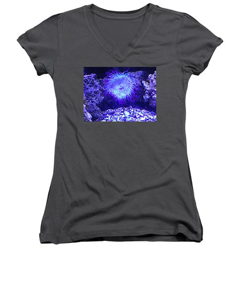 Predatory Terrestrial Sea Anemone Women's V-Neck T-Shirt