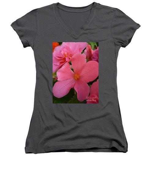 Pretty In Pink Women's V-Neck