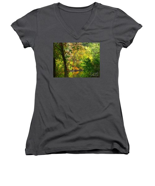 Prettyboy Of Autumn Women's V-Neck (Athletic Fit)