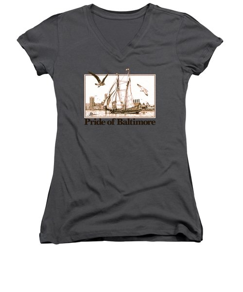 Pride Of Baltimore Shirt Women's V-Neck (Athletic Fit)