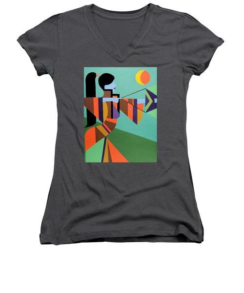 Princess Arrow Women's V-Neck T-Shirt