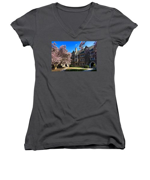 Princeton University Pyne Hall Courtyard Women's V-Neck
