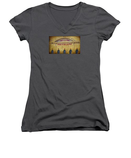 Pritzlaff Women's V-Neck T-Shirt (Junior Cut) by Susan  McMenamin