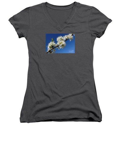 Promise Of Spring Women's V-Neck T-Shirt (Junior Cut) by Jean Bernard Roussilhe