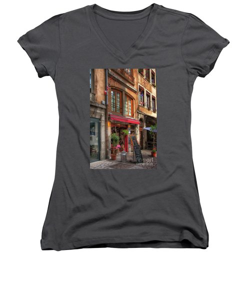 French Cafe Women's V-Neck (Athletic Fit)
