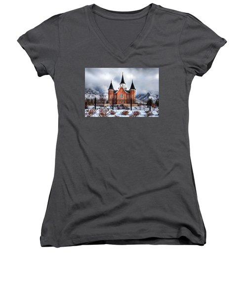 Provo City Center Temple Lds Large Canvas Art, Canvas Print, Large Art, Large Wall Decor, Home Decor Women's V-Neck T-Shirt